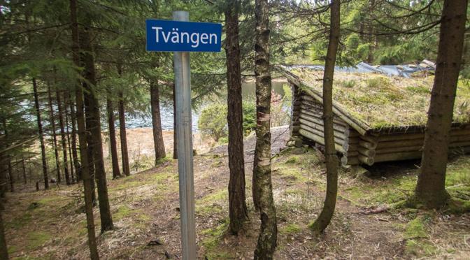 Tvängen – kortvandring till vindskydd i Svartedalen